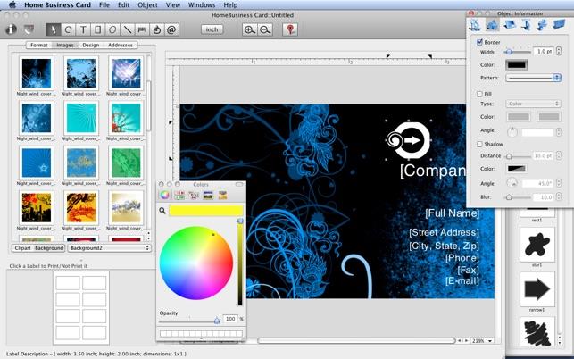 Home business card na mac app store capturas de tela reheart Image collections