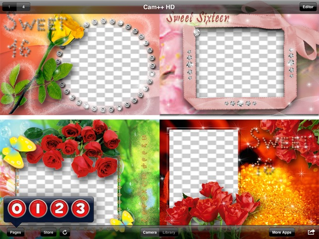 Cam++ Sweet16 Photo Frames HD on the App Store