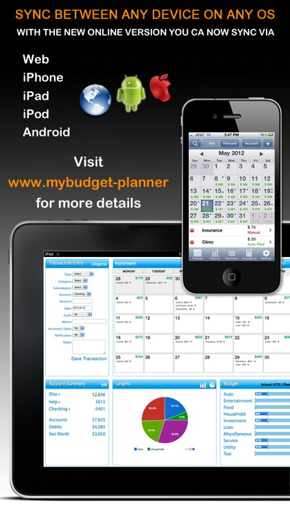 Budget Planner & Web Sync (income and expense balance calendar) screenshot-1