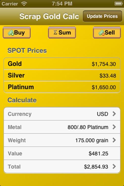 Scrap Gold Calculator
