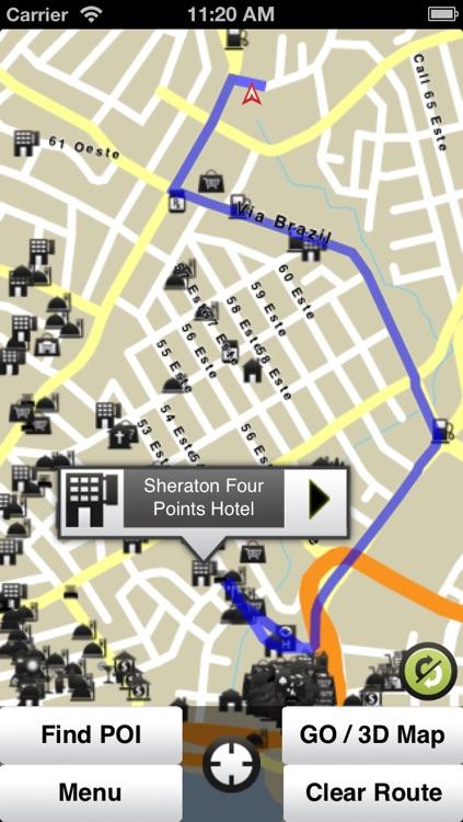 Panama GPS Map
