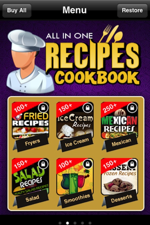 All in One Recipes Cookbook** screenshot-1
