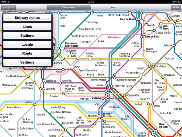 Paris Metro for iPad