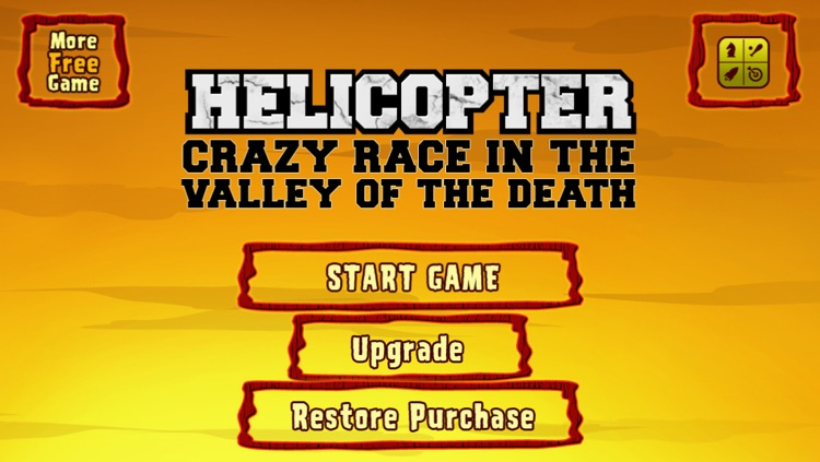 Helicopter crazy race in the valley of the death – A free flying diamond chase game