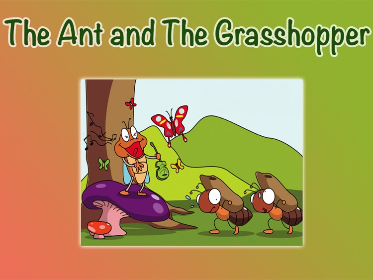 THE ANT AND THE GRASSHOPPER - Children's stories, folktales, fairy tales and fables.