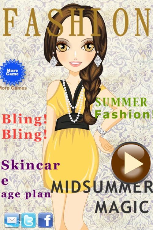 Cover Girl - Dress up and makeup game