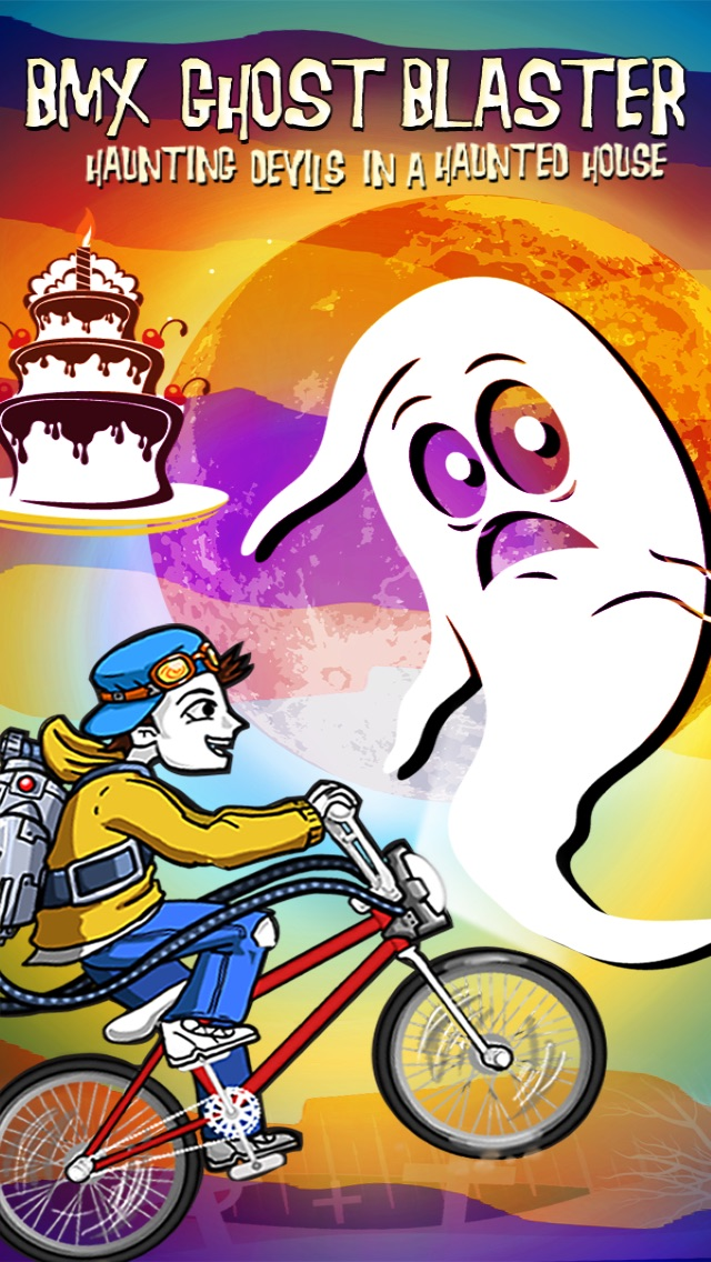 BMX Ghost Blaster: Hunt-ing Devils in a Haunt-ed House Screenshot on iOS