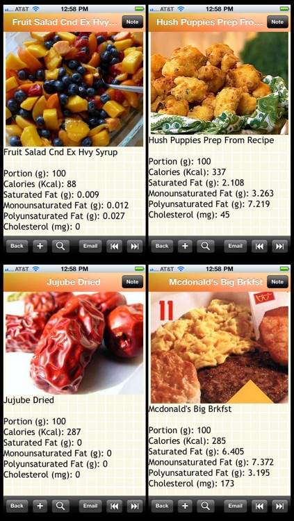 1300 Food Cholesterol List
