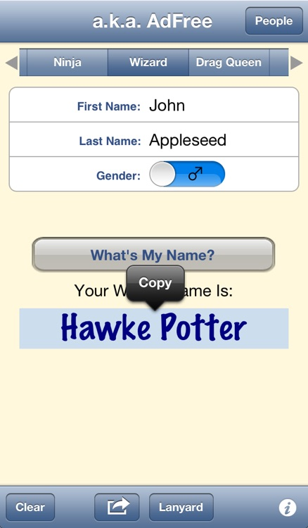 a.k.a. - Your Favorite Name Generator