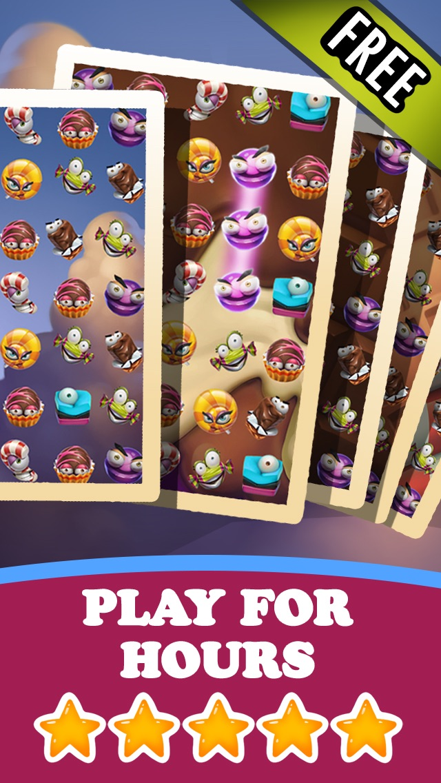 Candy Games Mania Match 3 Puzzle HD FREE Screenshot on iOS