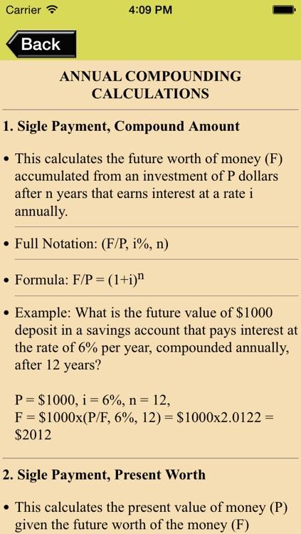Compound Interest Calculator & Engineering Economy