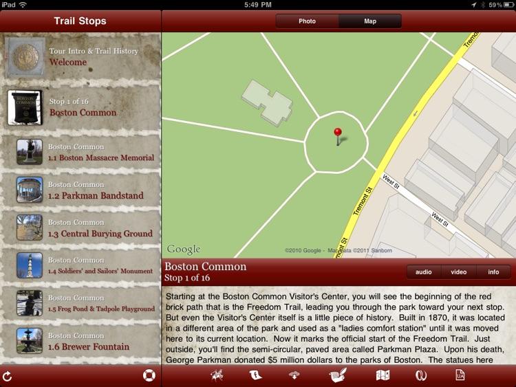 Tour Boston's Freedom Trail for iPad