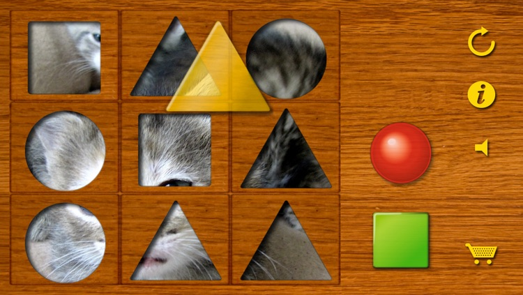 Shapes puzzle for the youngest. Training motor skills of preschoolers using attractive animal pictures or pictures of your own family! screenshot-1