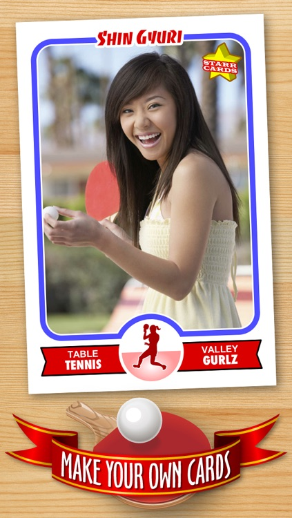 Table Tennis Card Maker - Make Your Own Custom Table Tennis Cards with Starr Cards screenshot-0