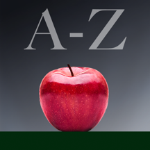A-Z Food Nutrition Facts - Vitamins and minerals from groceries e.g. fruits, vegetables, seafood, meat,  poultry, legumes, salads, fats, nuts, dairy, herbs, etc.