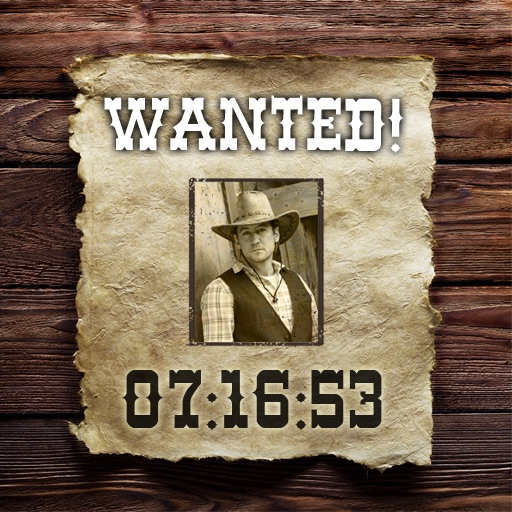 Wild West Photoframe (+ Clock)