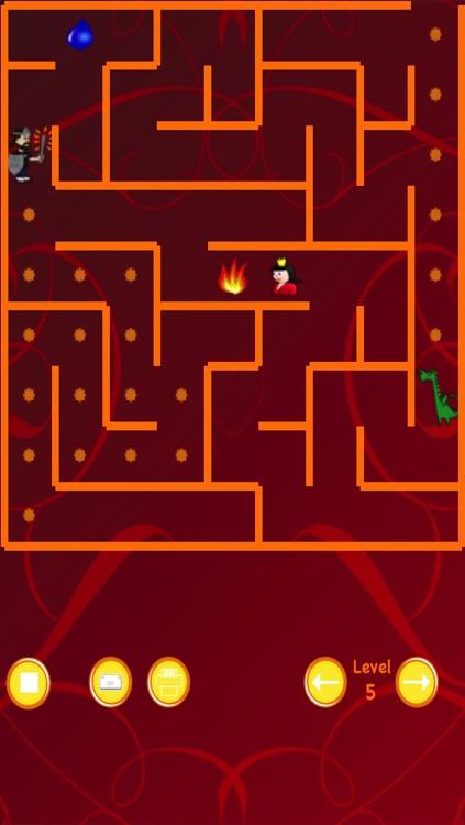 Dragon and Knight Maze (save the princess)