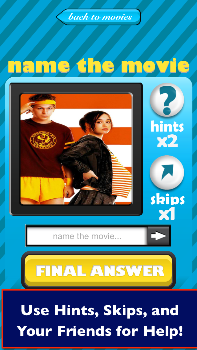 QuizCraze Movies Logos– a word pic color quiz game to guess what's that pop movie icon! screenshot two