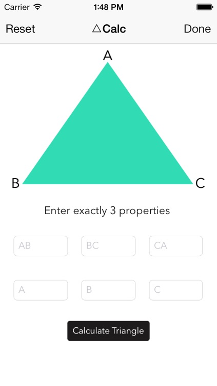 Triangle Solver for iOS 7