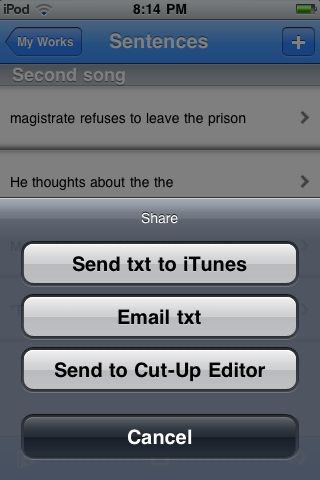 The Cut-Up Editor screenshot-4