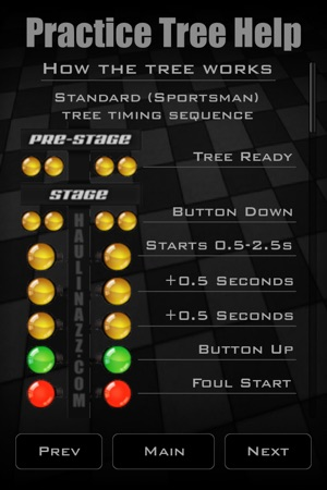 iPhone Screenshots - Drag Racing Practice Tree On The App Store