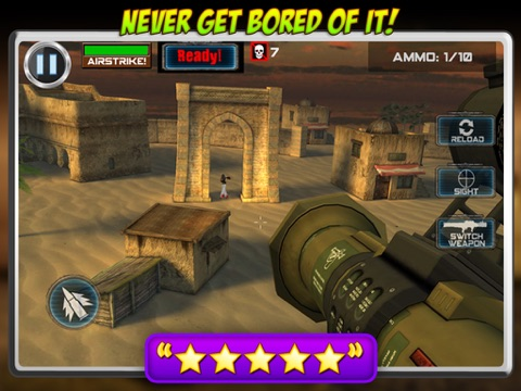 Screenshots of Helicopter Zombie Hunt- Fun 3D Army Defense Game for iPad
