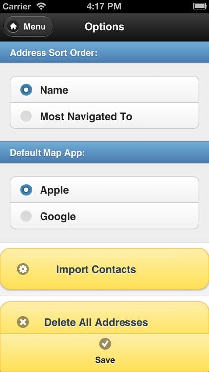 Address Book - Navigate Quick screenshot-3
