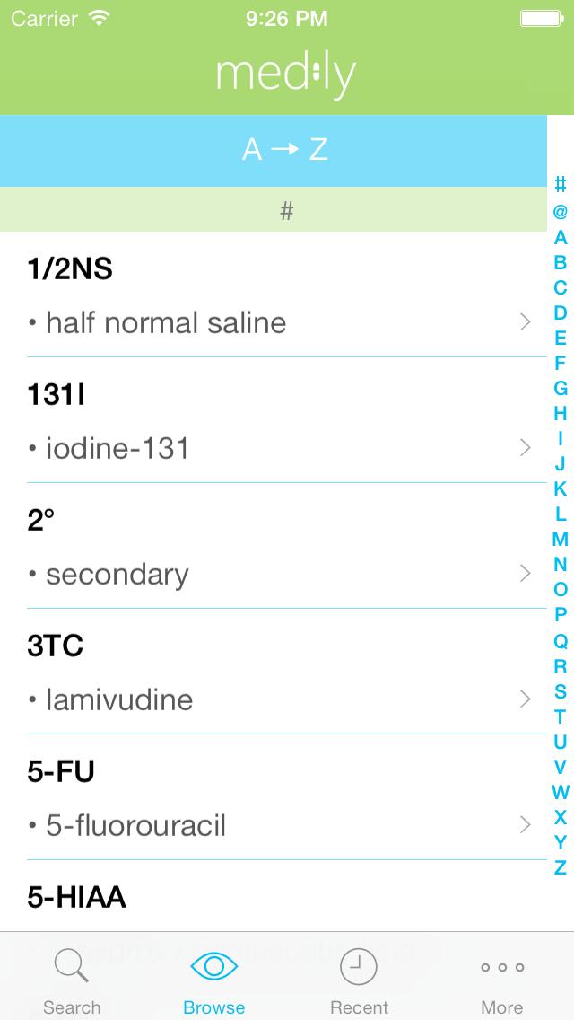 Medly - Medical Abbreviation, Terminology, and Prescription ReferenceScreenshot of 3