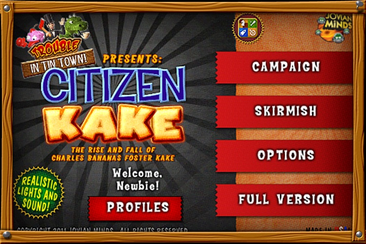 Citizen Kake: A Trouble in Tin Town Adventure