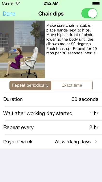 Health@Work - Workplace reminder to exercise, stretch, drink water screenshot-3