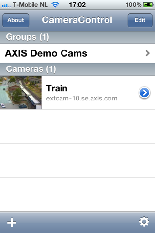 CameraControl for AXIS screenshot 2