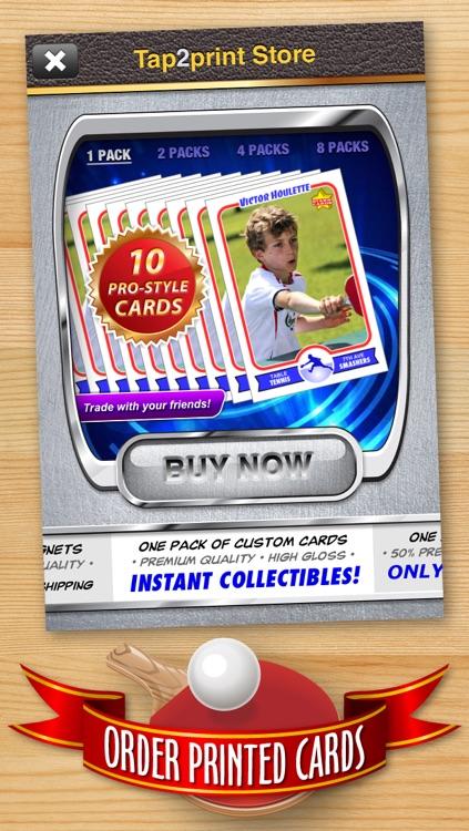 Table Tennis Card Maker - Make Your Own Custom Table Tennis Cards with Starr Cards screenshot-4