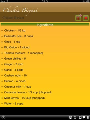 Biryani Recipes screenshot