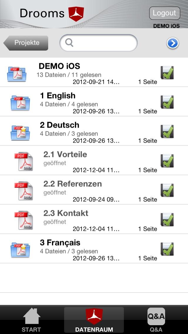 Drooms® für iPad und iPhoneScreenshot von 2
