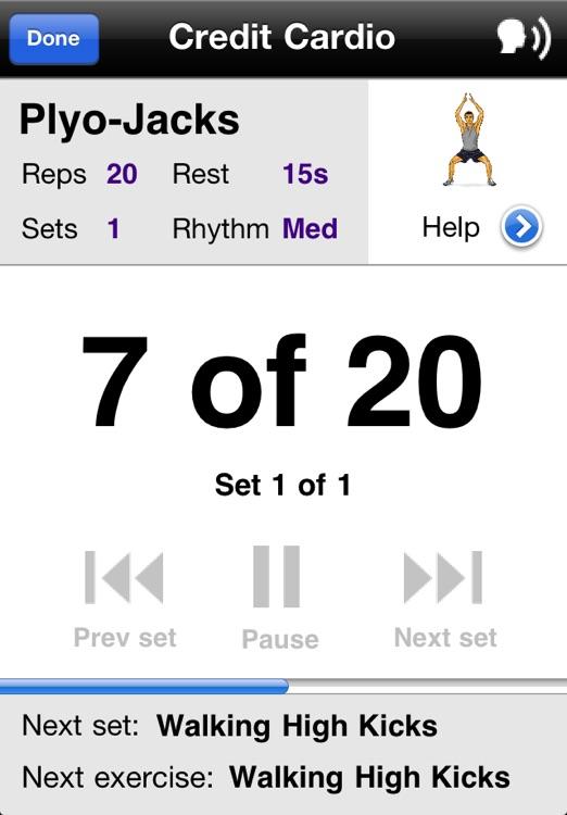 Cardio Workouts Free screenshot-3