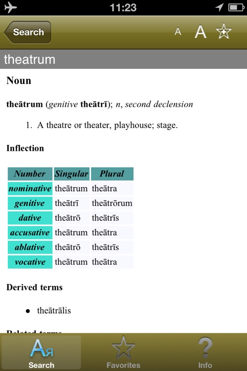 Latin Lexicon Dictionary screenshot-4