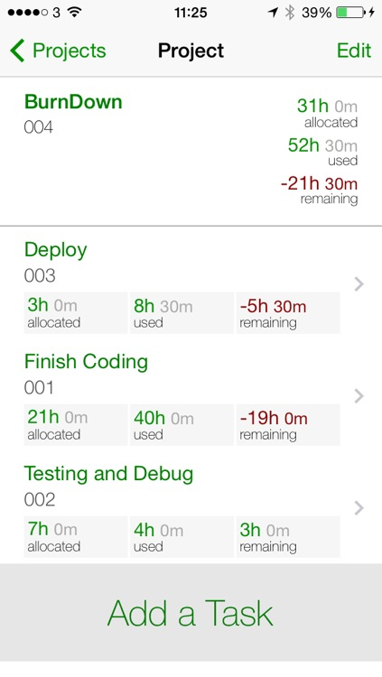 Burn Down - Personal Project Management and Time Tracking screenshot-4