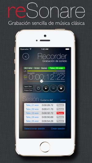 reSonare recording studio Screenshot