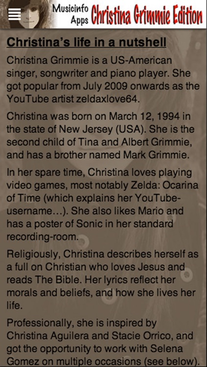 Musicinfo Apps - Christina Grimmie Edition+ screenshot-3