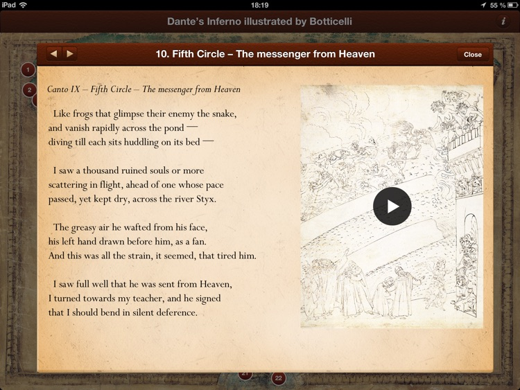 Dante's Inferno illustrated by Botticelli screenshot-4