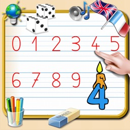 Write Numbers from 0 to 9 - English and French Sounds