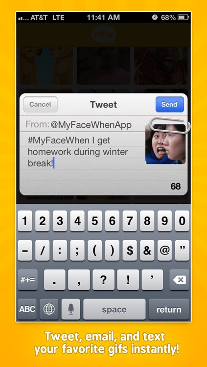 MyFaceWhen - Animated GIF Text App screenshot-3