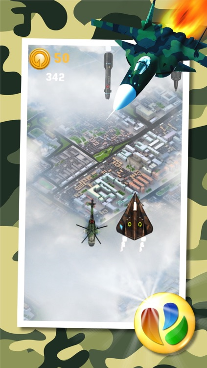 Aerial War - Stealth Jet Fighter War Game screenshot-0