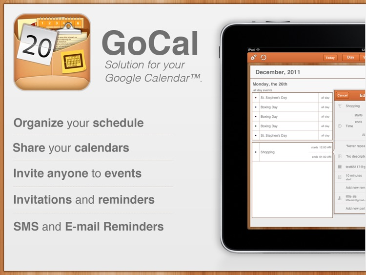 GoCal for Google Calendar™ HD screenshot-0