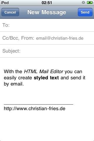 HTML Mail Editor screenshot-4