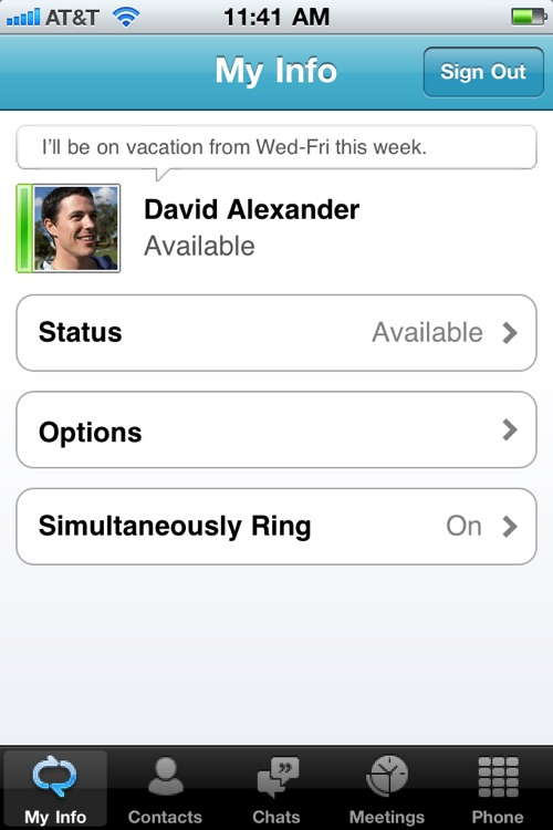 Microsoft Lync 2010 for iPhone screenshot-4