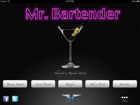 Mr Bartender - Mixed Drink, Bartending & Cocktail Recipes iPad