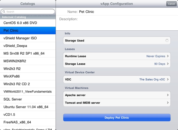 VMware vCloud Client for iPad screenshot-4