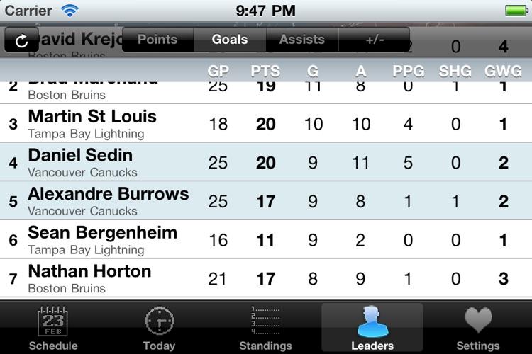 NHL Schedule 2009/10 screenshot-4