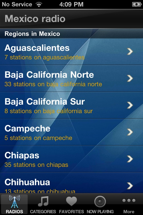 Mexico Radio Stations Player screenshot-0